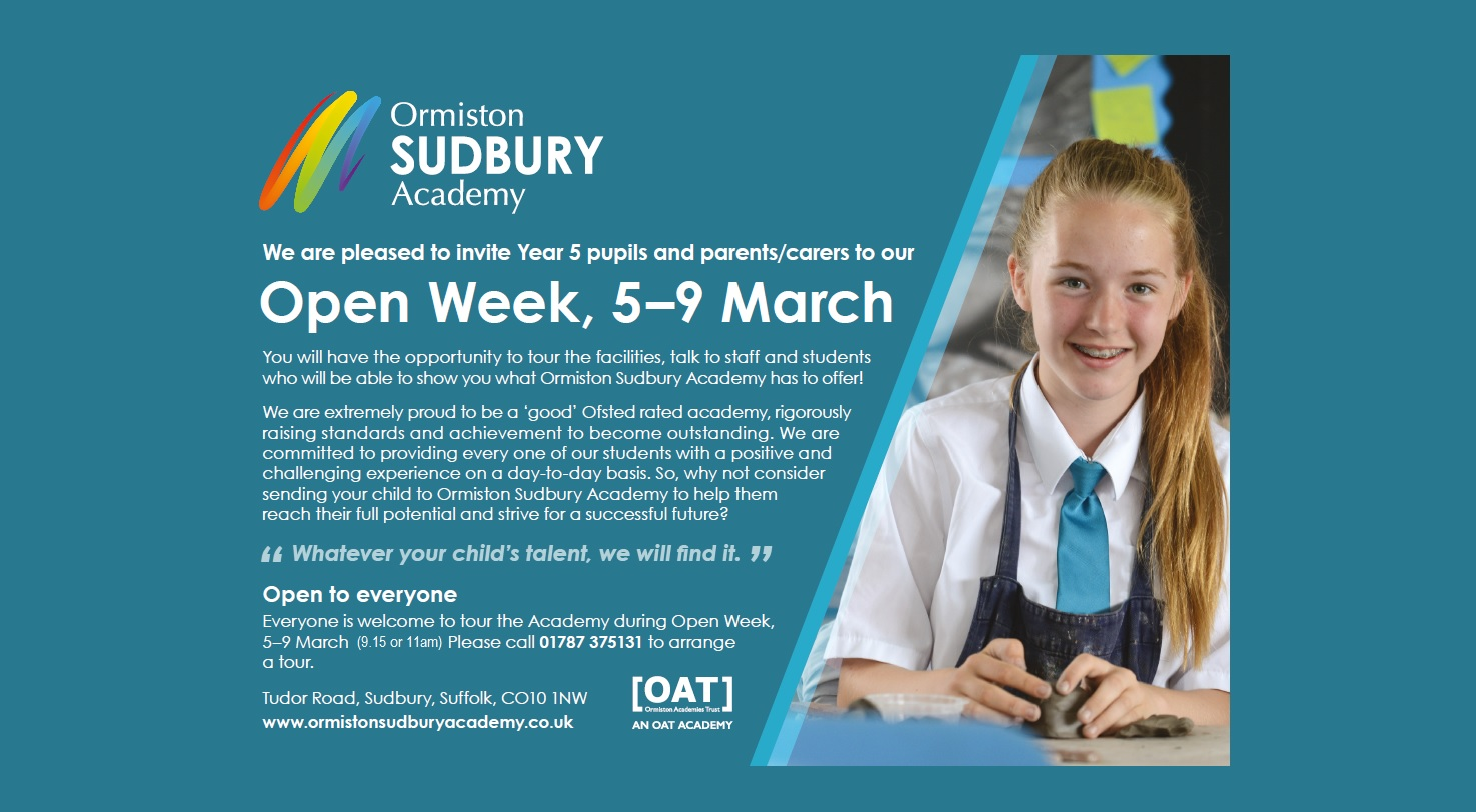Open Week 5th-9th March