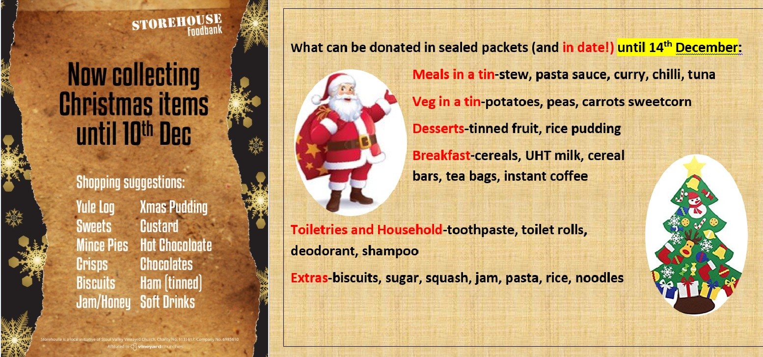 Foodbank for Christmas